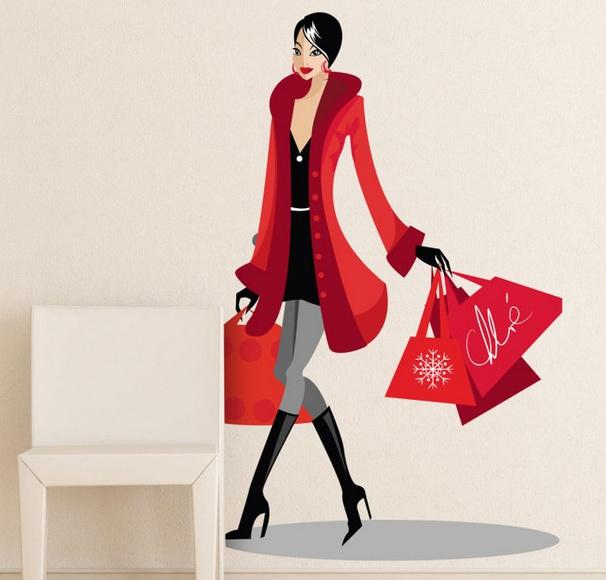 Женщина клипарт с сумками